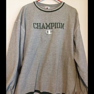 Champion Men's Embroidered Spell Out Sweatshirt XL
